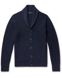 Rag & Bone - Cardiff Shawl-collar Merino Wool And Cotton-blend Cardigan - Lyst
