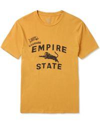 J.Crew   Garment-dyed Printed Cotton-jersey T-shirt   Lyst