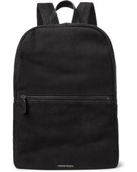 Common Projects - Black Suede Simple Backpack - Lyst