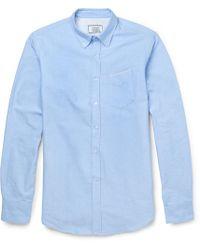 Officine Generale - Slim-fit Cotton Oxford Shirt - Lyst
