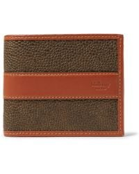 Mulberry - Leather-trimmed Pebble-grain Coated-canvas Billfold Wallet - Lyst