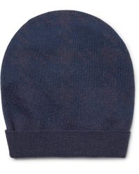 Boglioli - Two-tone Virgin Wool Beanie - Lyst