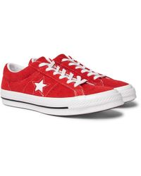Converse - One Star Ox Suede Trainers - Lyst