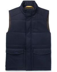 Canali - Slim-fit Quilted Wool Gilet - Lyst