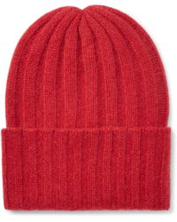 79e1214b0a144 The Elder Statesman Watchman Tie-dyed Ribbed Cashmere Beanie in Pink ...