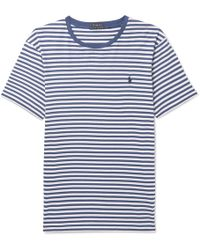 Polo Ralph Lauren - Striped Cotton-jersey T-shirt - Lyst