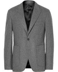 SALLE PRIVÉE - Grey Lloyd Slim-fit Mélange Wool-flannel Suit Jacket - Lyst