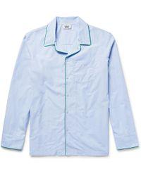 Sleepy Jones - Henry End-on-end Cotton Pyjama Shirt - Lyst