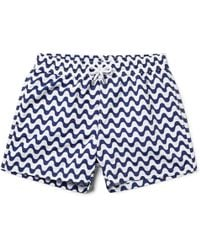 Frescobol Carioca - Copacabana Slim-fit Short-length Printed Swim Shorts - Lyst