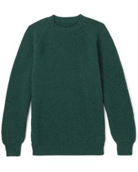 Anderson & Sheppard - Ribbed Cashmere Sweater - Lyst