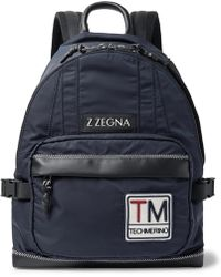 Z Zegna - Leather-trimmed Shell Backpack - Lyst