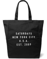 Saturdays NYC - Printed Cotton-canvas Tote Bag - Lyst