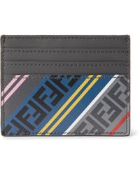 Fendi - Logo-print Leather Cardholder - Lyst