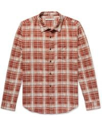 Outerknown - Highline Checked Brushed Cotton And Linen-blend Flannel Shirt - Lyst