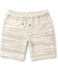 Folk - Textured-cotton Drawstring Shorts - Lyst