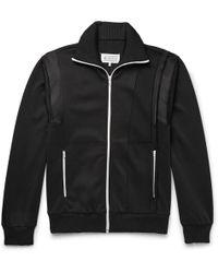 Maison Margiela - Satin-panelled Woven Track Jacket - Lyst