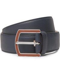 Loro Piana - 3.5cm Navy Full-grain Leather Belt - Lyst