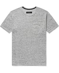 Rag & Bone - Owen Slub Linen-jersey T-shirt - Lyst