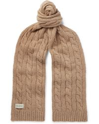 Oliver Spencer - Arbury Cable-knit Wool-blend Scarf - Lyst