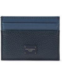 Dolce & Gabbana - Two-tone Full-grain Leather Cardholder - Lyst