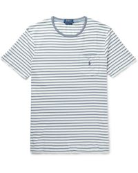 Polo Ralph Lauren - Slim-fit Striped Cotton-jersey T-shirt - Lyst