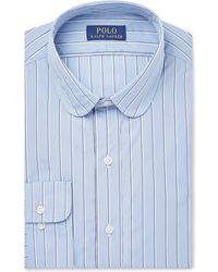Polo Ralph Lauren - Slim-fit Penny-collar Striped Cotton-poplin Shirt - Lyst