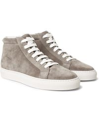 Nubuck And Leather-trimmed Canvas Sneakers Brunello Cucinelli 2018 For Sale Free Shipping Cheapest Sale Visa Payment 3RYFW5iHrQ