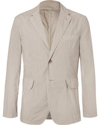 Aspesi - Cream Slim-fit Unstructured Cotton Blazer - Lyst