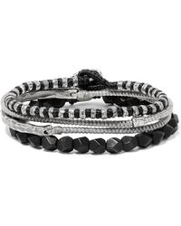 M. Cohen - The Create Stack Silver Onyx Bracelet Set - Lyst