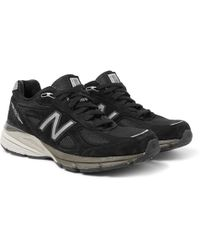 New Balance - 990v4 Suede And Mesh Trainers - Lyst