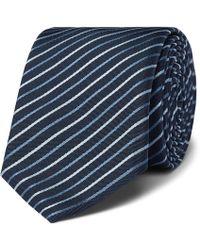 BOSS - 6cm Striped Silk-twill Tie - Lyst