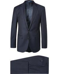 Polo Ralph Lauren - Navy Slim-fit Wool-twill Suit - Lyst