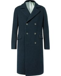 Massimo Alba - Oversized Double-breasted Textured-wool Coat - Lyst