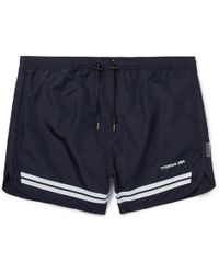 Neil Barrett | Short-length Striped Swim Shorts | Lyst