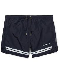 Neil Barrett - Short-length Striped Swim Shorts - Lyst