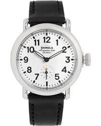 Shinola - The Runwell 36mm Stainless Steel And Leather Watch - Lyst