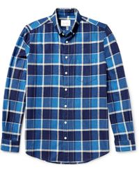 Steven Alan - Masters Button-down Collar Checked Brushed-cotton Shirt - Lyst