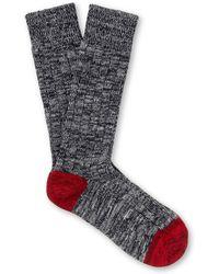 The Workers Club - - Mélange Cotton-blend Socks - Black - Lyst