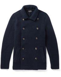 Giorgio Armani - Slim-fit Double-breasted Cashmere-blend Coat - Lyst