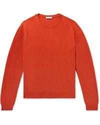 Boglioli - Brushed Wool And Cashmere-blend Jumper - Lyst
