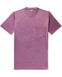 Lanvin - Micro-striped Cotton-jersey T-shirt - Lyst