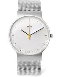 Braun | Bn0211 Classic Slim Stainless Steel Mesh Watch | Lyst