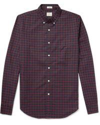 J.Crew - Slim-fit Button-down Collar Checked Pima Cotton Oxford Shirt - Lyst