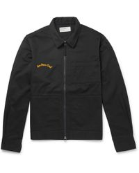 Universal Works - Embroidered Cotton-twill Jacket - Lyst