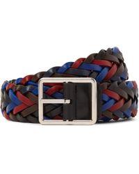 Paul Smith - 3cm Reversible Woven Leather Belt - Lyst