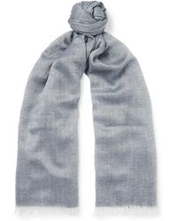 Begg & Co | Staffa Cashmere And Silk-blend Scarf | Lyst