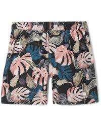 Saturdays NYC - Trent Mid-length Printed Swim Shorts - Lyst