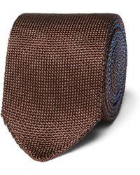 Berluti - 6cm Reversible Knitted Silk Tie - Lyst