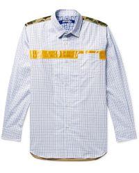 Junya Watanabe - Carhartt Vinyl And Ripstop-trimmed Checked Cotton-twill Shirt - Lyst