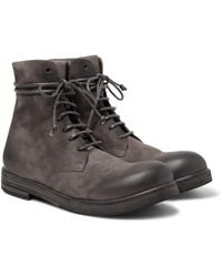 Marsèll - Washed-suede Boots - Lyst